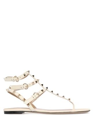 Kadın Gold Rockstud Sandalet Beyaz 37.5 EU