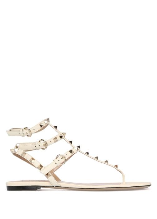 Gold Rockstud Sandalet