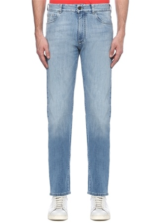 Açık Mavi Normal Bel Bol Paça Jean Pantolon