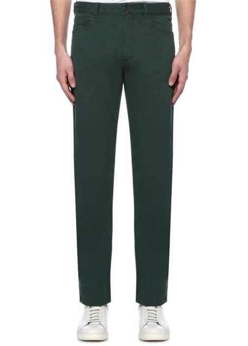 Yeşil Dar Paça Jean Pantolon