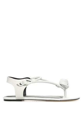 Isabel Marant Kadın Jarley Ekru Deri Sandalet Beyaz 41 R Ürün Resmi