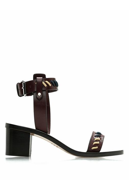 Jecky Kahverengi Kadın Deri Sandalet