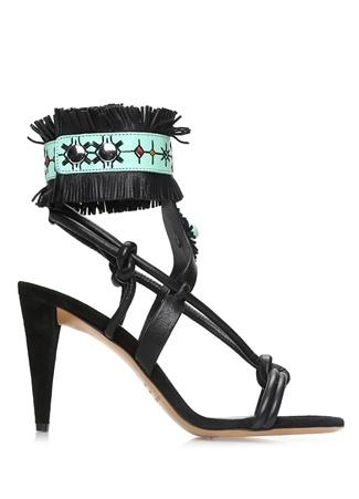 Isabel Marant Kadın Abrily Siyah Deri Sandalet 36 R Ürün Resmi