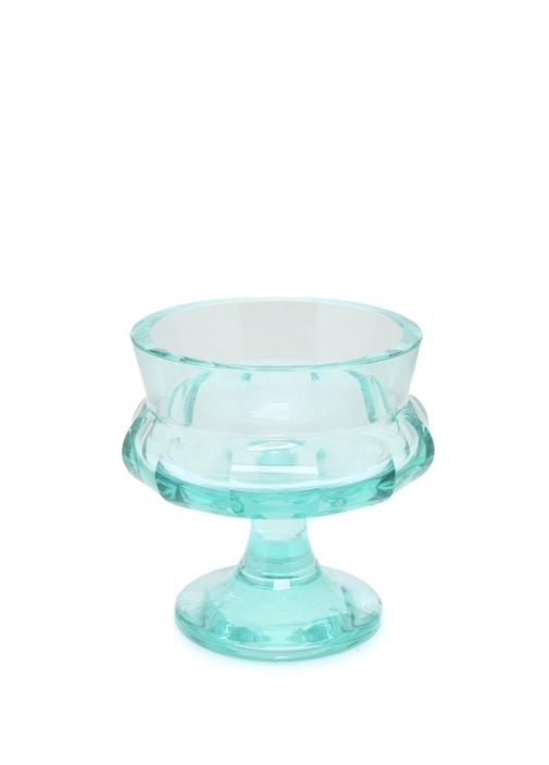 Mavi Ayaklı Kristal Dekoratif Kase