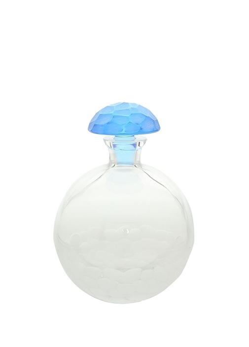 Şeffaf Mavi Kapaklı Kristal Karaf