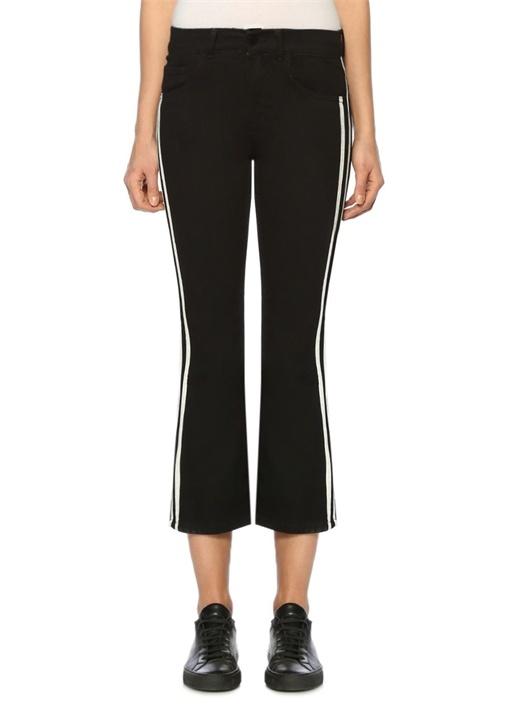 Heidi Siyah Normal Bel Bol Paça Jean Pantolon