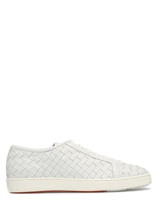 Santoni Sport Beyaz ERKEK  Beyaz Deri Erkek Sneaker 468142 Beymen