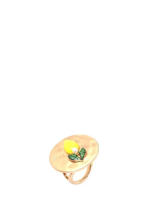 Gold Limon Detaylı Kadın Yüzük