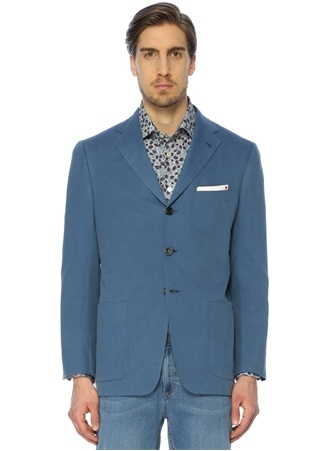 Kiton Erkek Mavi Pamuklu Ceket 56 I (IALY) Ürün Resmi