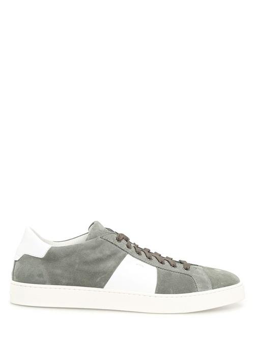 Yeşil - Beyaz Deri Erkek Sneaker