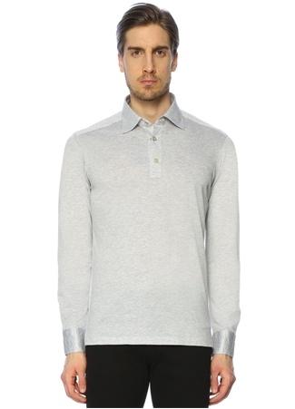 Erkek Sweatshirt Gri M EU