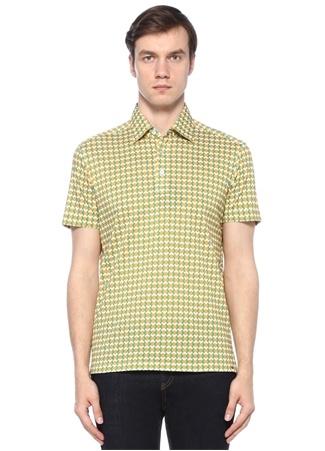 Kiton Erkek Sarı Zincir Desenli Polo Yaka -shirt XXL Ürün Resmi