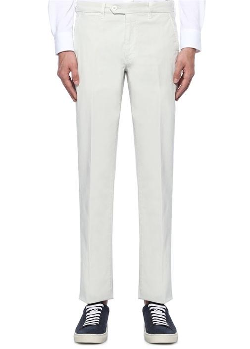 Ekru Normal Bel Dar Paça Chino Pantolon