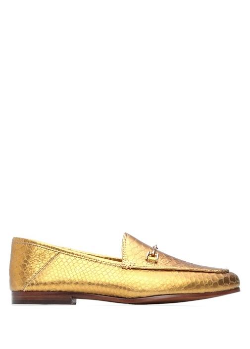 Sam Edelman Loraine Gold Krokodil Desenli Kadın Loafer – 899.0 TL