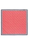 Kırmızı Mikro Çiçek Desenli 55x55 cm Kadın Eşarp
