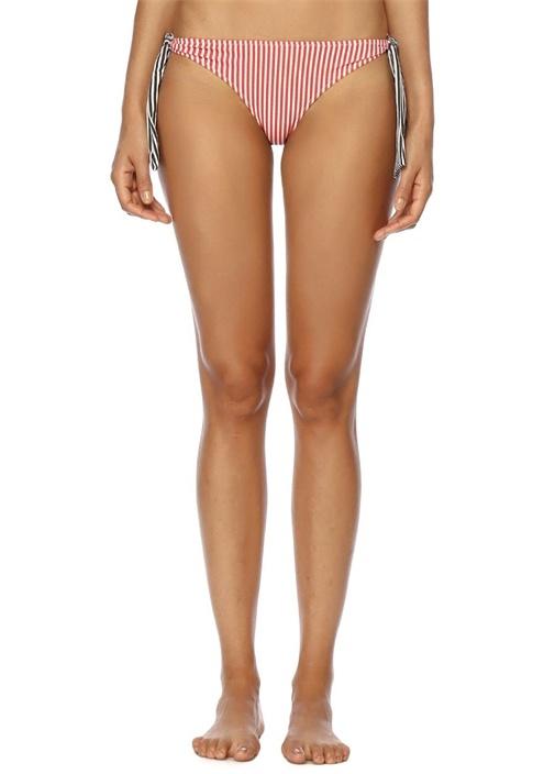 The Mackenzie Kırmızı Çizgili Bağlı Bikini Altı