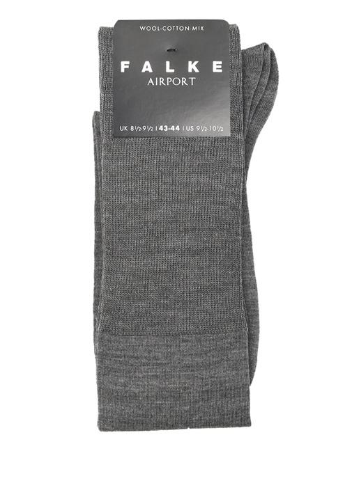 Gri Melanj Ribli Erkek Yün Çorap