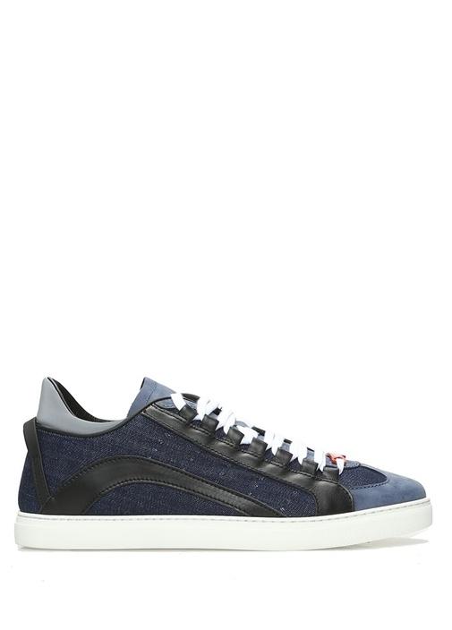 Dsquared2 Mavi-Siyah ERKEK  Mavi Denim Detaylı Erkek Sneaker 485891 Beymen
