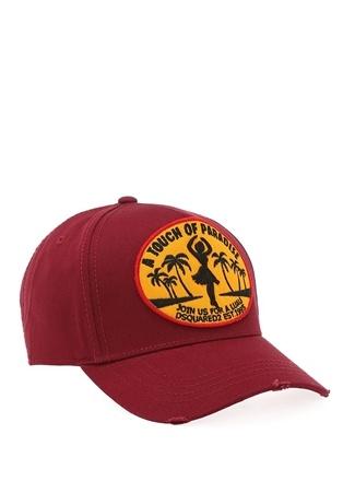 Dsquared2 Erkek Bordo Logolu Patchli Şapka Ürün Resmi