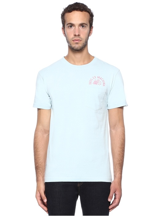 Regular Fit Sunbleached Enthusiasm MaviT-shirt