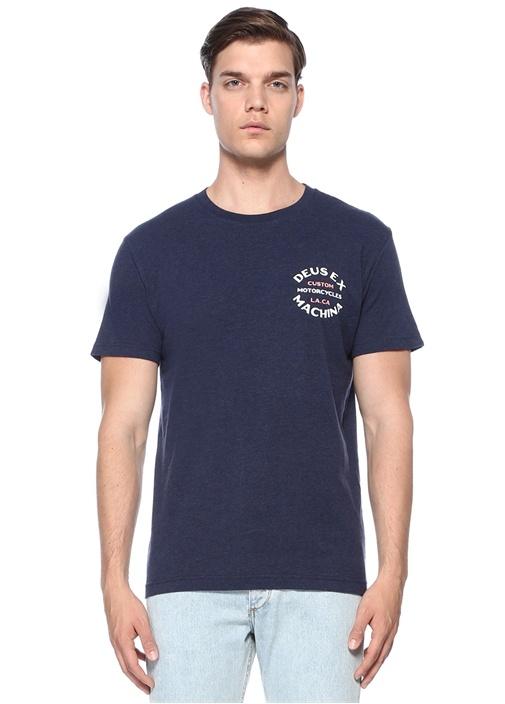 Regular Fit Apple Lacivert Bisiklet Yaka T-shirt