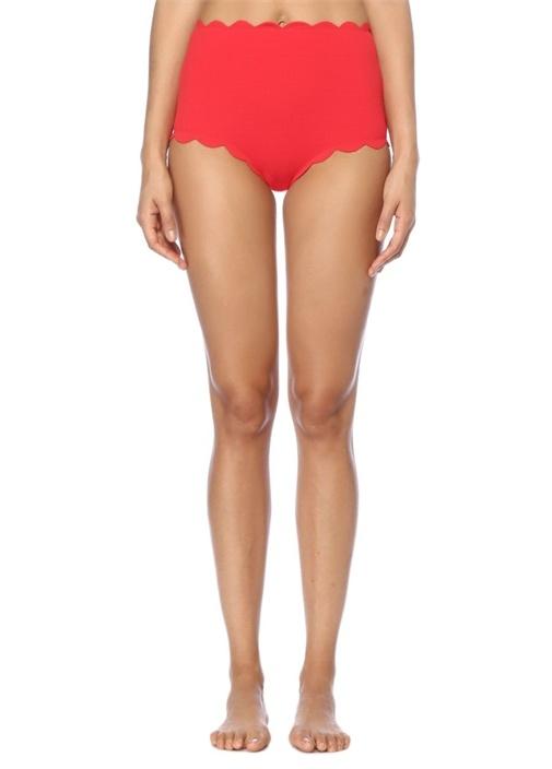 Santa Monica Kırmızı Yüksek Bel Bikini Altı