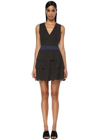 Marysia Kadın San Onofre Siyah Puanlı Mini Plaj Elbisesi Mavi XS Ürün Resmi