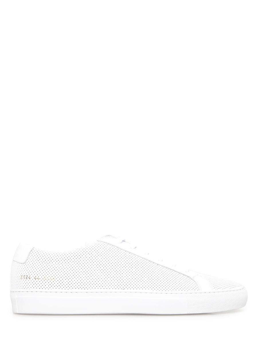 Common Projects Beyaz ERKEK  Low Top Perforated Deri Beyaz Erkek Sneaker 462514 Beymen