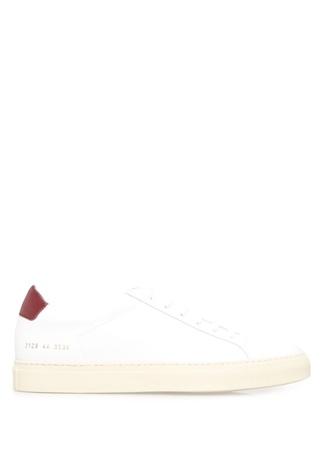Common Projects Erkek Achilles Retro Low op Deri Beyaz ErkekSneaker 43 R