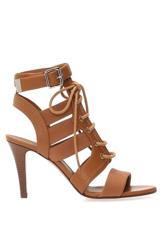 Chloe Kadın aba Şerit Detaylı Bağcıklı Deri Sandalet uruncu 40.5 R
