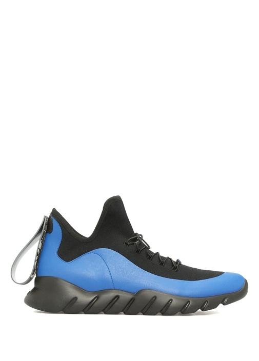 Fendi Mavi-Siyah ERKEK  High Tops İn Technical Knit Mavi Erkek Sneaker 442878 Beymen