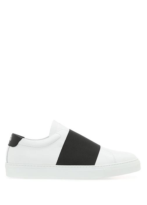 National Standard Siyah-Beyaz ERKEK  Siyah Beyaz Bantlı Erkek Deri Sneaker 505495 Beymen