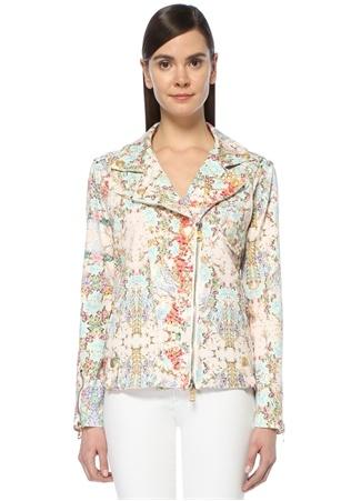 Pierre Balmain Kadın Beyaz Kelebek Yaka Çiçekli Ceket 36 FR Ürün Resmi