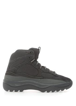 Yeezy Erkek Yeşil Bağcıklı File Dokulu Sneaker Siyah 40 EU