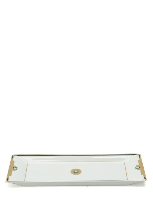 Emerald Beyaz Gold Porselen Servis Tabağı