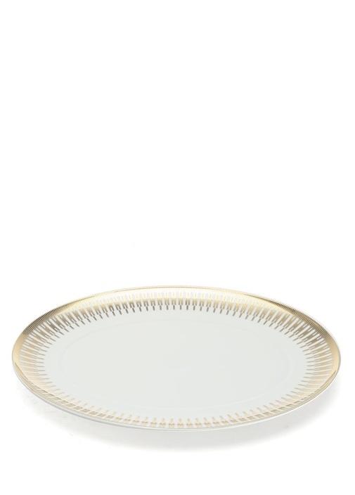 Gold Exotıc Porselen Servis Tabağı