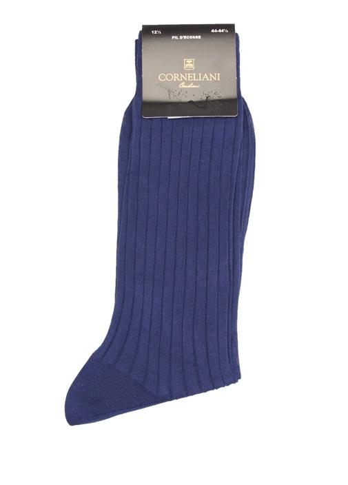 Mavi Dokulu Erkek Çorap