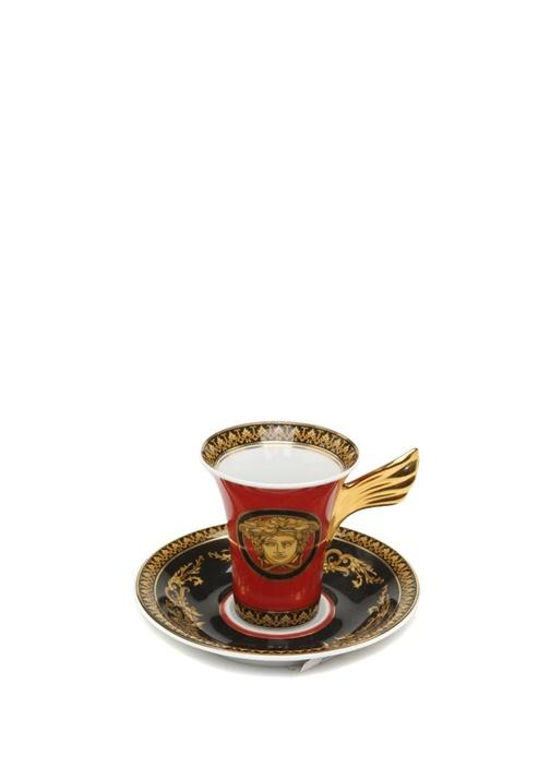 Medusa Kanat Tutacaklı Porselen Kahve Fincanı