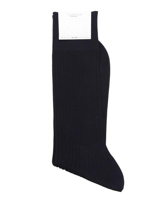 Lacivert Dokulu Erkek Çorap