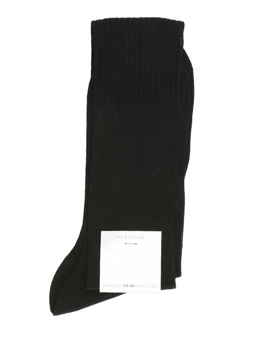 Siyah Ribli Erkek Uzun Çorap