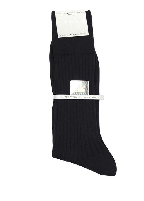 Lacivert Ribli Erkek Uzun Çorap