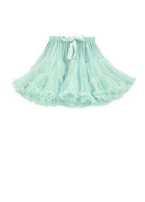 Mavi Fiyonklu Kız Çocuk Tütü Etek