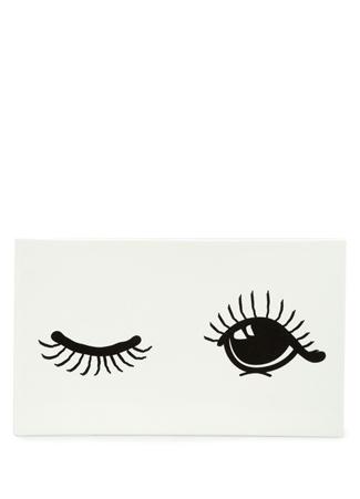 Miss Etoile Beyaz Göz Baskılı Seramik Servis Tabağı Ürün Resmi