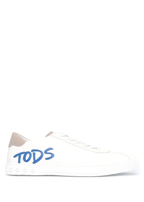 Tod's Beyaz ERKEK  Logo Baskılı Beyaz Erkek Sneaker 417846 Beymen