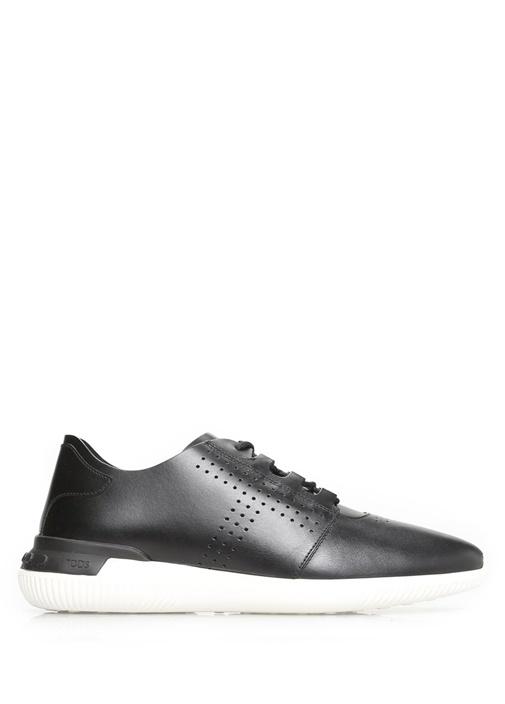 Tod's Siyah ERKEK  Beyaz Tabanlı Siyah Deri Erkek Sneaker 469731 Beymen