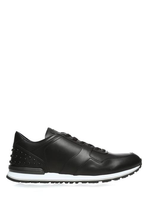 Tod's Siyah ERKEK  Zımbalı Beyaz Tabanlı Siyah Deri Erkek Sneaker 371990 Beymen