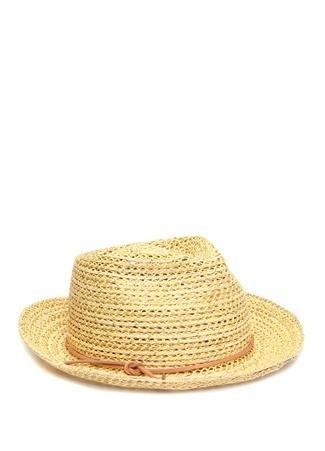 Marzi Kadın Bej Örgü Dokulu Bantlı Şapka Sarı M Ürün Resmi