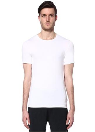 Derek Rose Erkek Beyaz Bisiklet Yaka Basic T-shirt S EU male