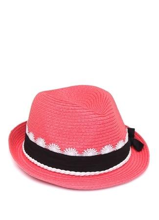Ikks Kız Çocuk Pembe Dantelli Şeritli Hasır Şapka 51 Ürün Resmi
