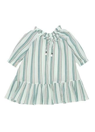 Zimmermann Kız Çocuk Yeşil Çizgili Elbise 10 Yaş Ürün Resmi
